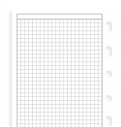 White Quadrille Notepaper Pocket Refill