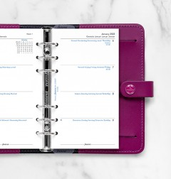 Week On Two Pages Diary Personal