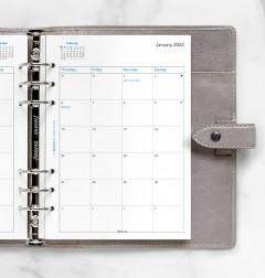 Month On Two Pages Diary A5