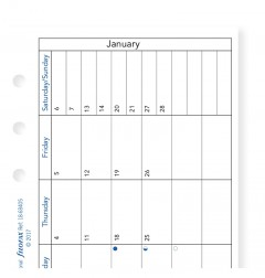 Month On One Page Diary with Notes Personal 2021