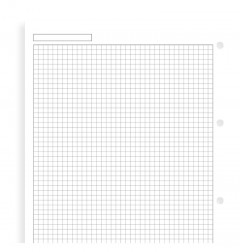 White Quadrille Notepaper A4 Refill