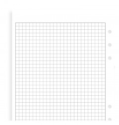 White Quadrille Notepaper A5 Refill
