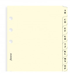A-Z Index Cream - Two Letters Per Tab