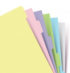 Blank Index Pastel Personal - Six Tabs