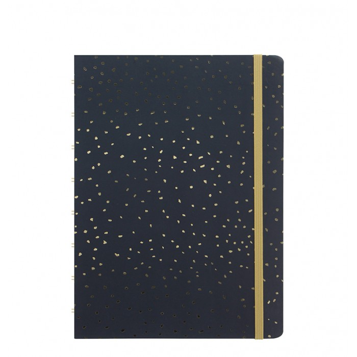Confetti A5 Refillable Notebook in Charcoal