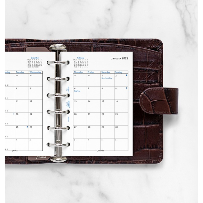 Month On Two Pages Diary Pocket