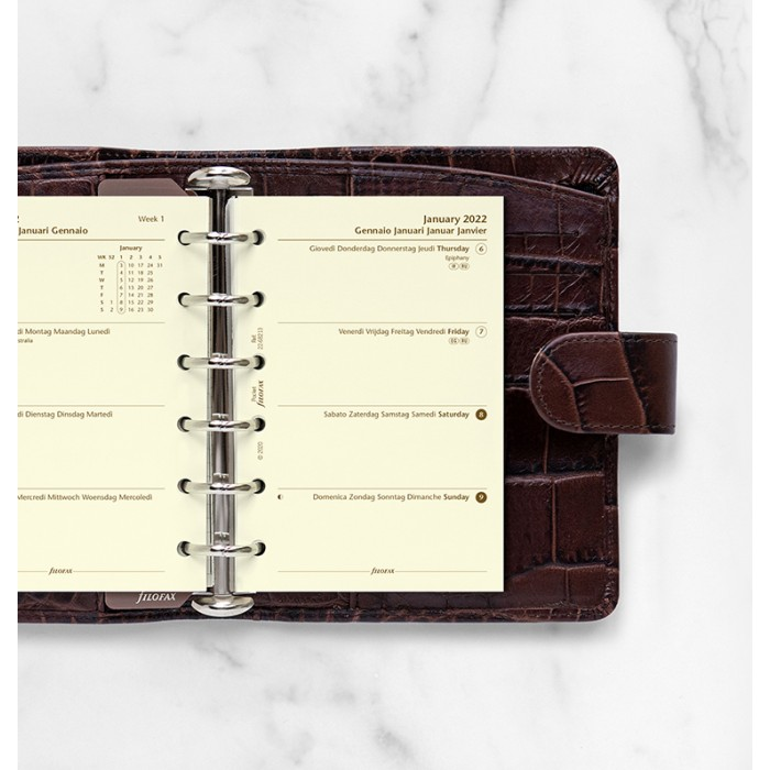 Week On Two Pages Diary Pocket Cotton Cream