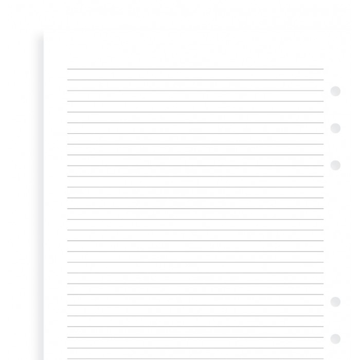 White Ruled Notepaper A5 Refill