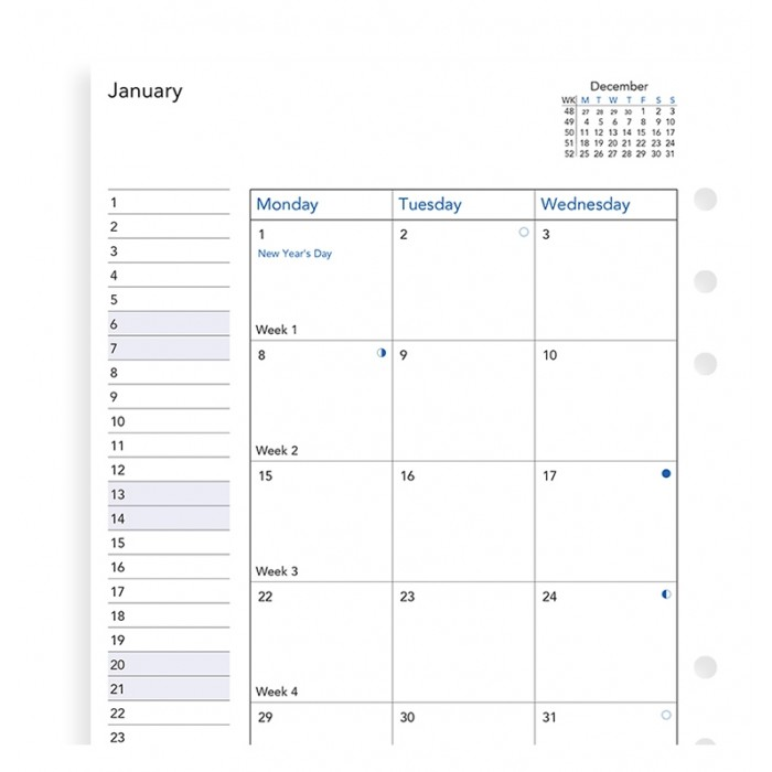 Month On Two Pages Diary A5 2021
