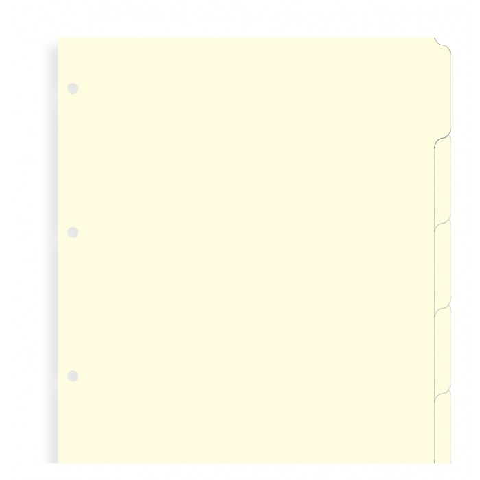 Blank Index Cream A4 - Six Tabs