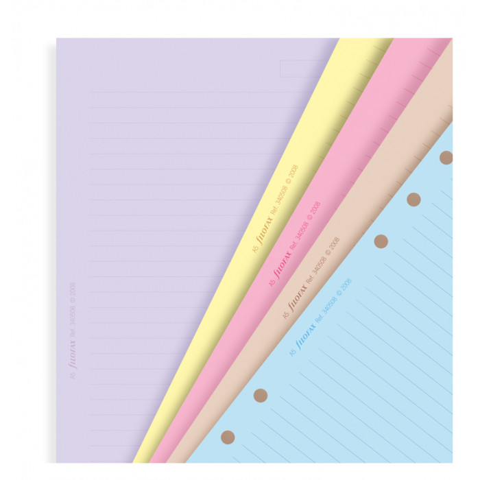 Classic Coloured Ruled Notepaper Refill