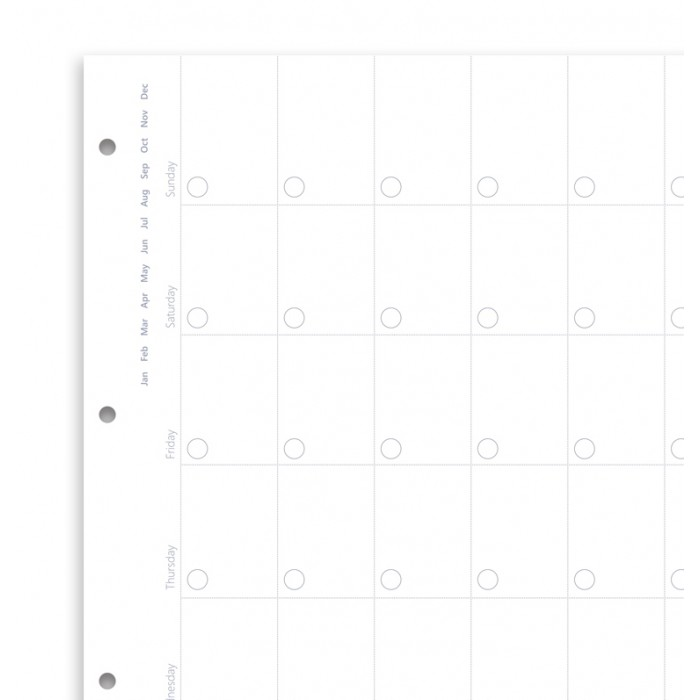 Clipbook Undated A4 Month Planner Refill