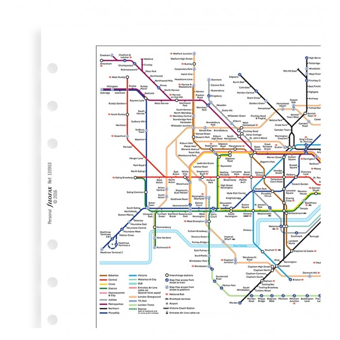 London Underground Map Personal Refill