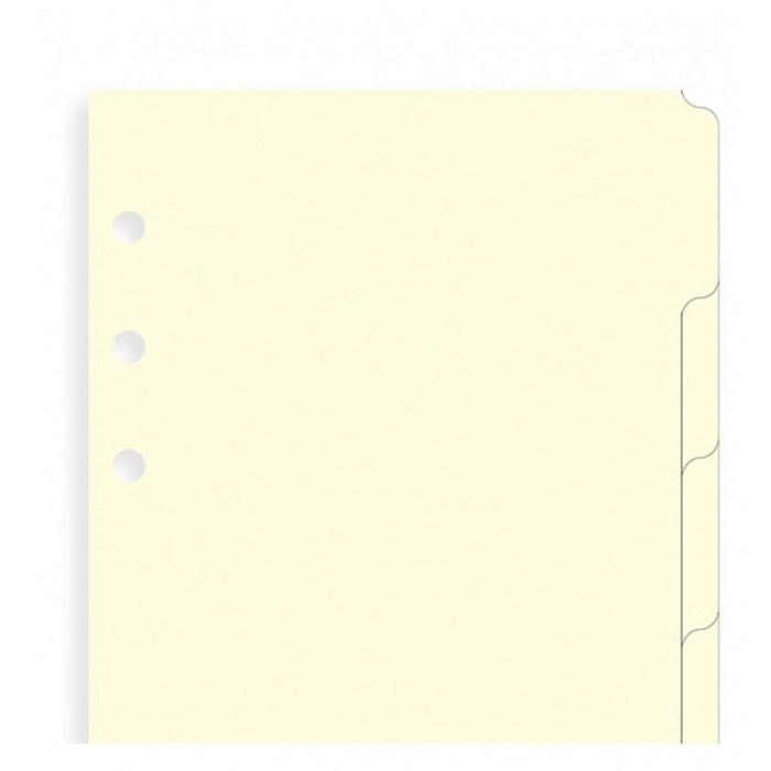 Blank Index Cream Personal - Six Tabs