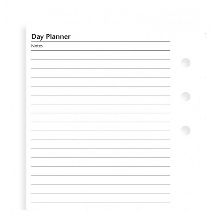 Undated Day Planner