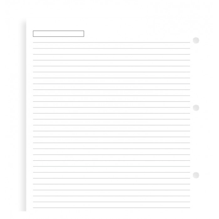 White Ruled Notepaper A4 Refill