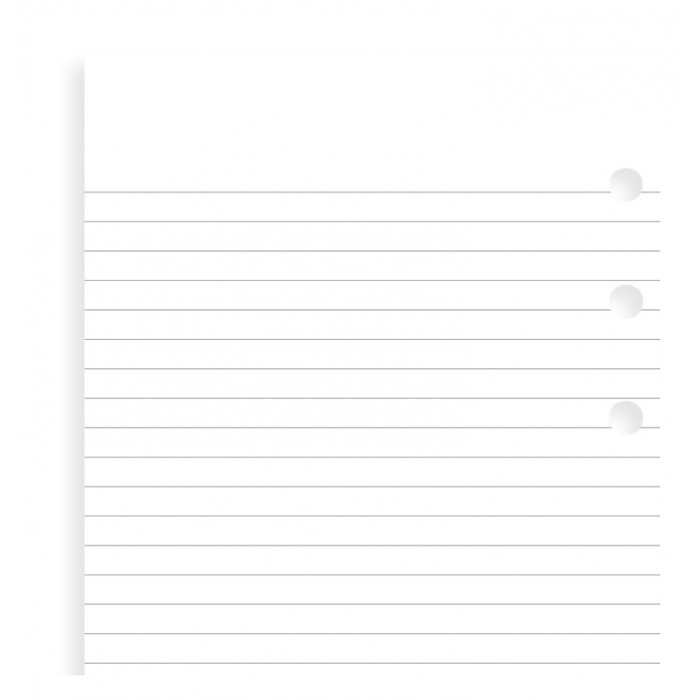 White Ruled Notepaper Refill